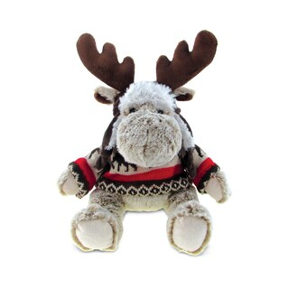 Puzzled Super-soft Plush Moose with Clothes
