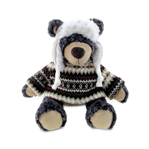 Puzzle Inc Super Soft Black Plush Bear with Clothes