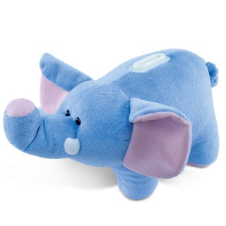 Puzzled Plush Elephant Bank