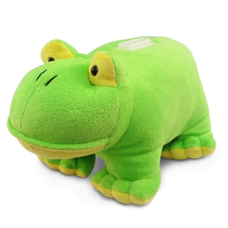 Puzzled Plush Frog Bank