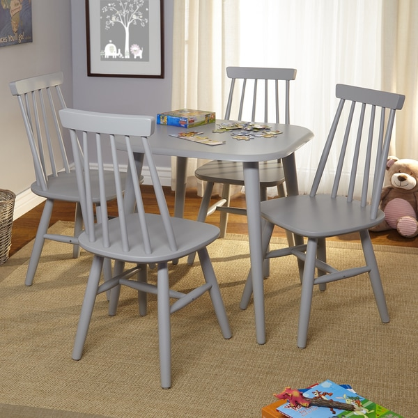 Simple living fiona kids table set free shipping today for Minimalist living with kids