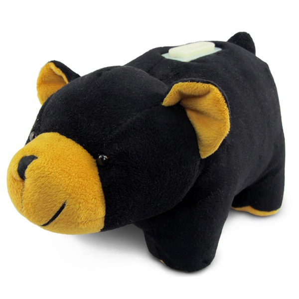 Puzzled Plush Bank Black Bear