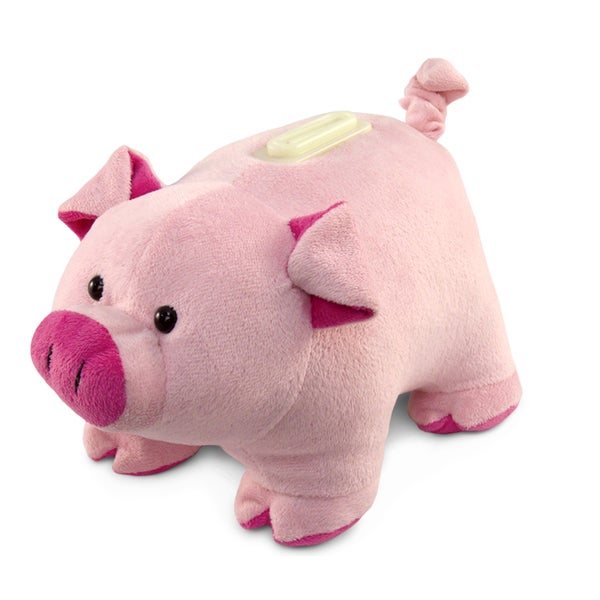 Puzzled Plush Bank Pig