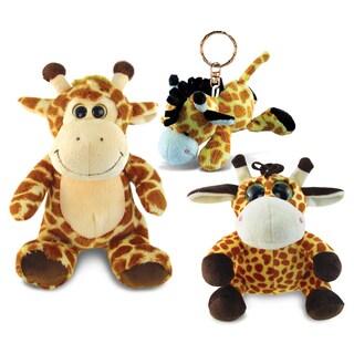 PuzzledGiraffe Plush Collection Animals \ Zoo Animals Theme Set of 3 Elegant Unique Gift and Useful Souvenir