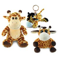 PuzzledGiraffe Plush Collection Animals \ Zoo Animals Theme Set of 3 Elegant Unique Gift and Useful Souvenir