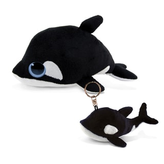 Puzzled 6-inch Plush Killer Whale and Keychain