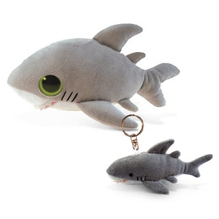 Puzzled Inc. 6-inch Big-eye Plush Shark and Keychain