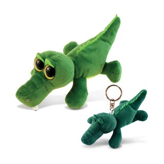 Puzzled 6-inch Big Eye Plush Alligator With Keychain