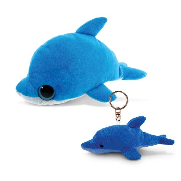Puzzled 6-inch Big Eye Plush Dolphin With Keychain