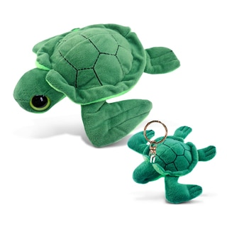Puzzled Turtle 6-inch Big-eye Plush and Keychain
