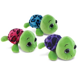 Puzzled Purple, Blue, and Pink Shell 6-inch Sea Turtles (Set of 3)