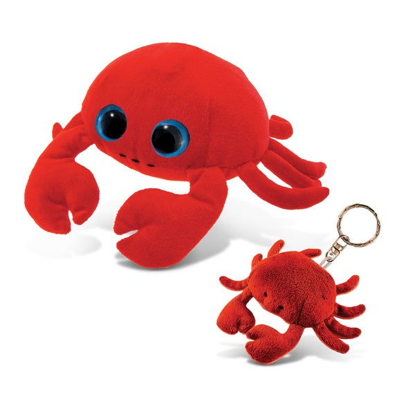 Puzzled Crab Red 6-inch Big-eye Plush and Keychain