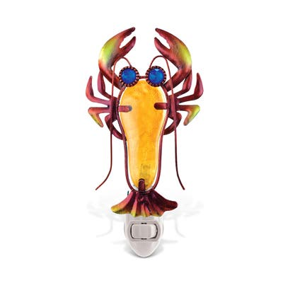 Puzzled Inc. Multicolored Metal/Glass Lobster Nightlight