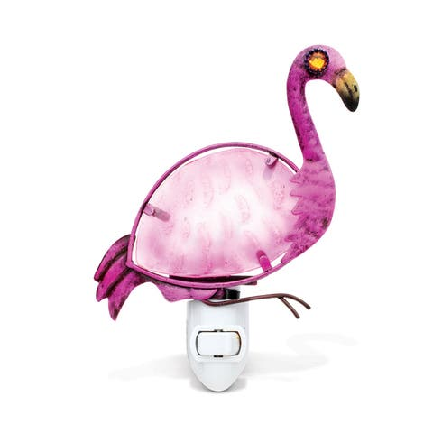 Puzzled Inc. Handcrafted Flamingo Night Light