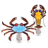 Puzzled Crab and Lobster Night Lights (Set of 2)