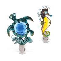 Puzzled Inc. Multicolored Sea Turtle and Seahorse Nightlights