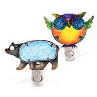 Puzzled Night Light Black Bear And Owl