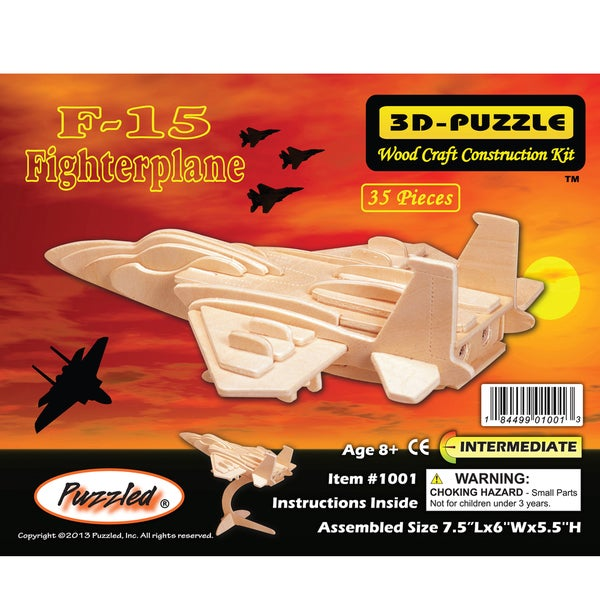 Puzzled 35-piece F-15 Fighterplane 3D Puzzle