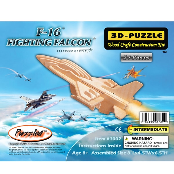 Puzzled Inc. F-16 Fighting Falcon 3D Puzzle