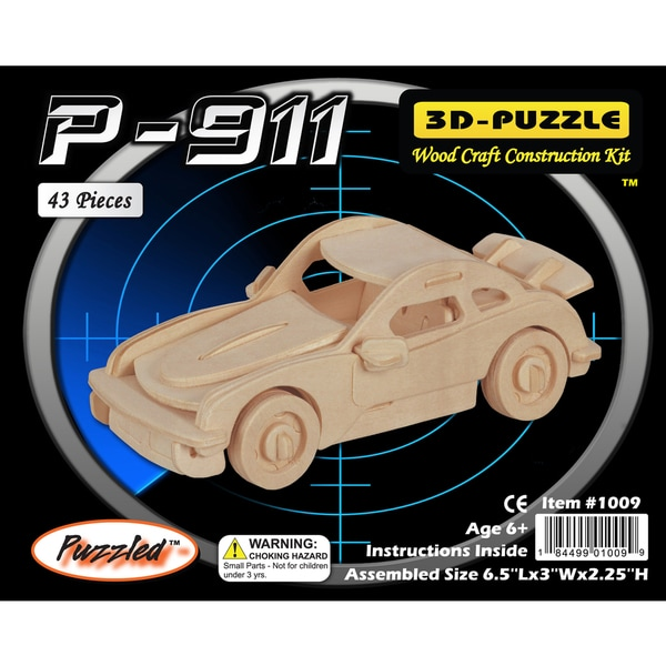 Puzzled P-911 Wooden Small 3D Puzzle