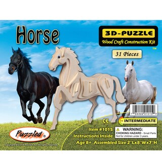 Puzzled Horse 3D Wood Puzzle