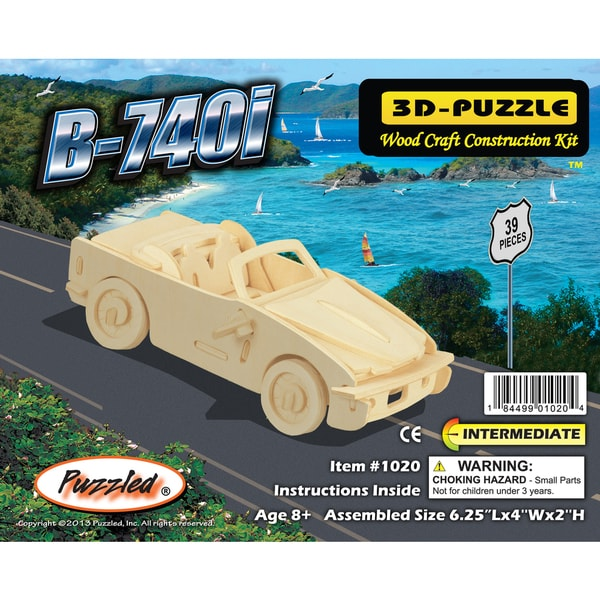 Puzzled Wood 'B-740I' 3D Puzzle Kit