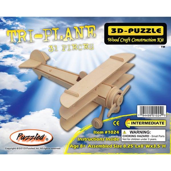 Puzzled Tri-Plane #D Puzzle