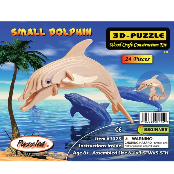 Puzzled 3D Puzzles Wood Dolphin Construction Kit