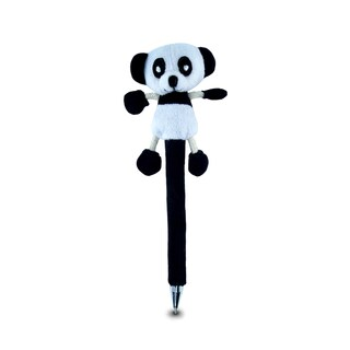Puzzled Panda Plush Pen