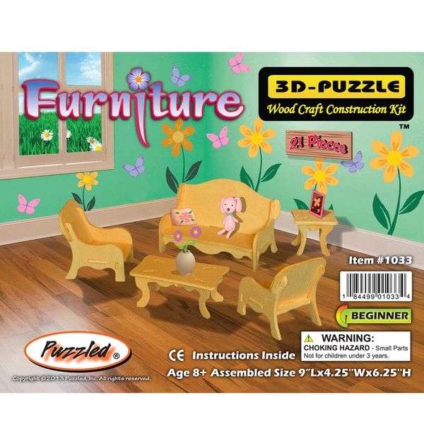 Puzzled Small Furniture 3D Puzzle