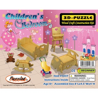 Puzzled 3D Puzzles Wood Children's Bedroom Construction Kit