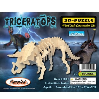 Puzzled Triceratops 3D Wood Puzzle