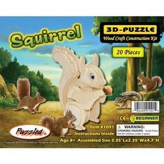 Puzzled Squirrel Wood 3D Puzzle