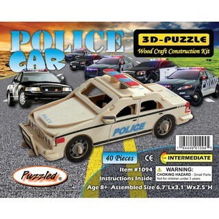 Puzzled Inc. 3D Police Car Puzzle