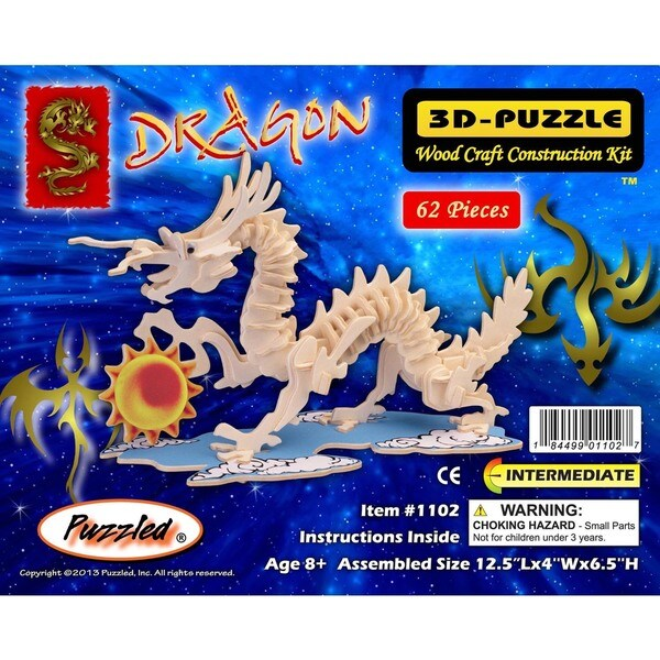 Puzzled Small Dragon 3D Puzzle