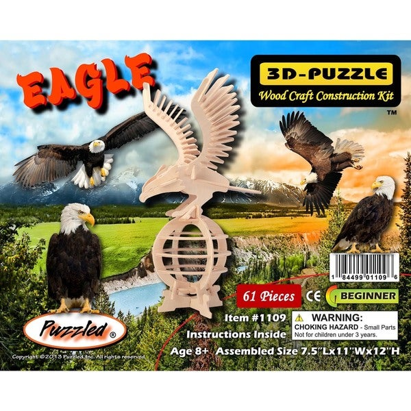 Puzzled Wood Eagle 3D Puzzle