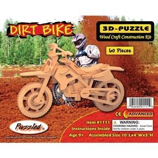 Puzzled Dirt Bike 3D Wood Puzzle