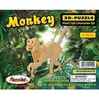 Puzzled Monkey Wooden 3D Puzzle