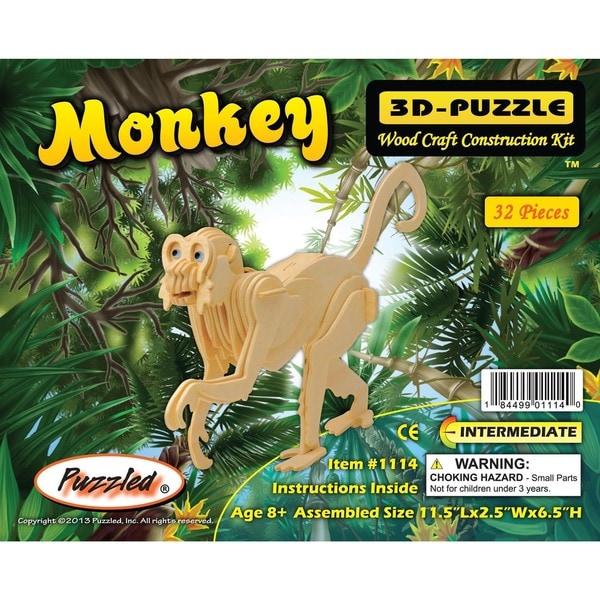 Puzzled Monkey Wooden 3D Puzzle