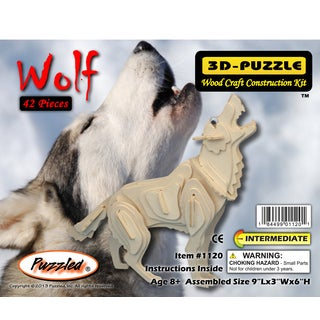 Puzzled Wolf Wooden 3D Puzzle