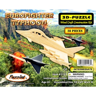 Puzzled 3D Puzzles Wood Eurofighter Typhoon Construction Kit