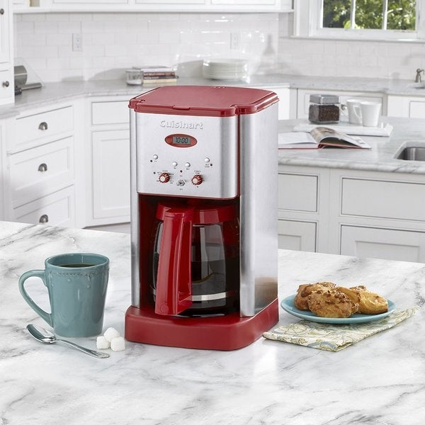 Cuisinart DCC1200R Brew Central 12-Cup Programmable Coffeemaker, Red