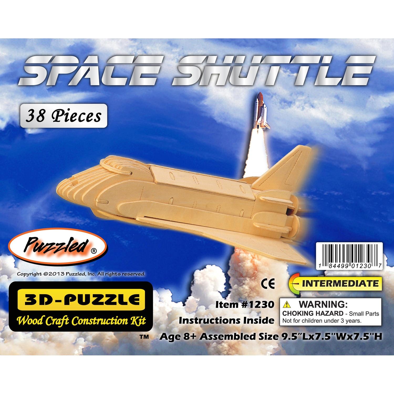 Puzzled Wood 'Space Shuttle' 3D Puzzle Kit (Assembled Siz...