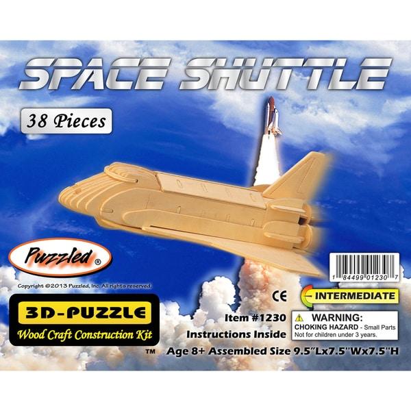 Puzzled Wood 'Space Shuttle' 3D Puzzle Kit
