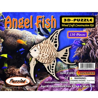 Puzzled Wood 'Angel Fish' 3D Puzzle Kit