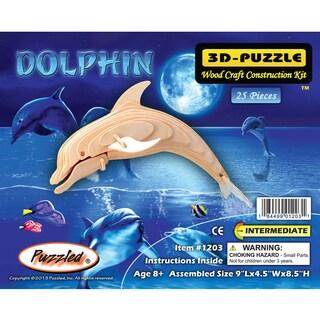 Puzzled Wood Bottle-nose Dolphin 3D Puzzle