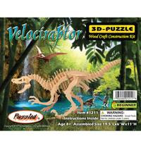Puzzled Velociraptor 3D Puzzle