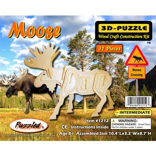 Puzzled Wooden Moose 3D Puzzles