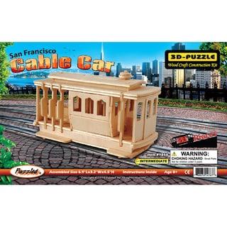 Puzzled Inc Wooden 53-piece Cable Car 3D Puzzle