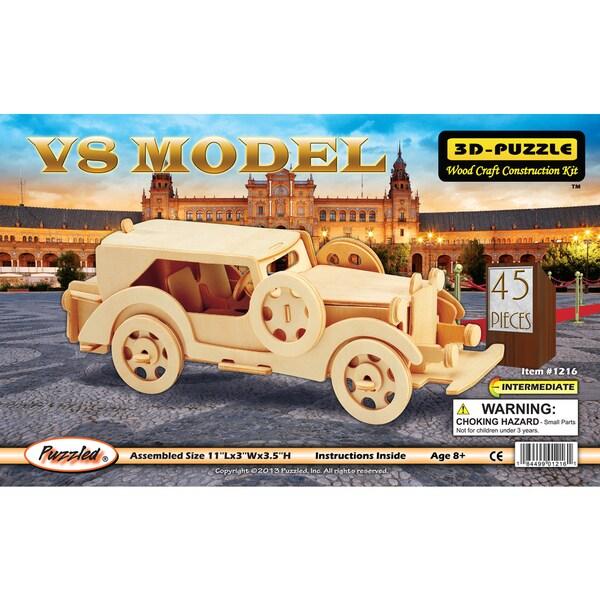 Puzzled Wood 'V8 Model Car' 3D Puzzle Kit
